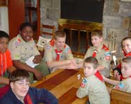 Boy Scouts playing game